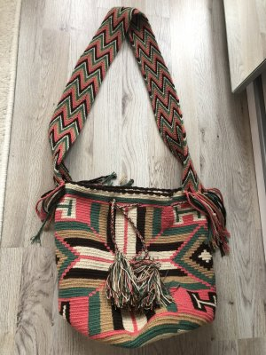 Wayuu taya Pouch Bag multicolored