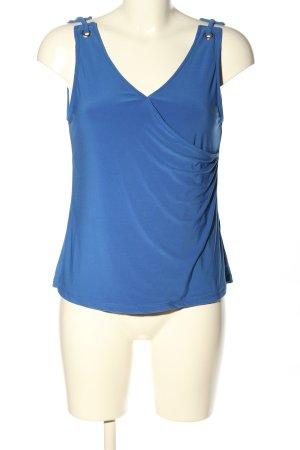WE ärmellose Bluse blau Casual-Look