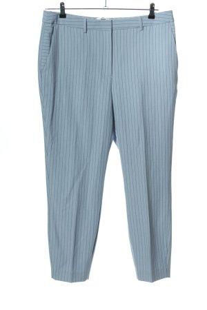 WE Anzughose blau Streifenmuster Business-Look
