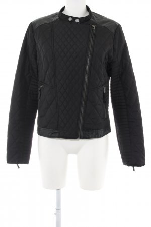 WE Bikerjacke schwarz Steppmuster Casual-Look