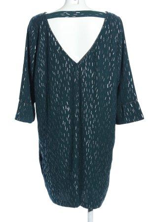 WE Blusenkleid grün Allover-Druck Elegant
