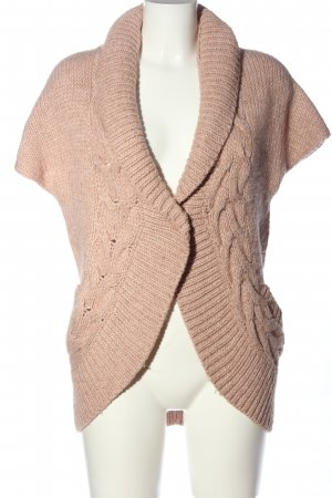 WE Cardigan pink Zopfmuster Casual-Look
