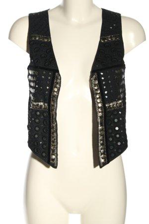 WE Fashion Kamizelka garniturowa czarny W stylu casual