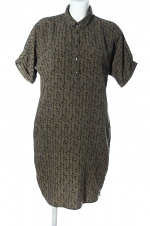 WE Fashion Blusenkleid khaki-schwarz Allover-Druck Casual-Look