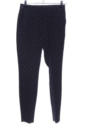 WE Fashion Bundfaltenhose schwarz-weiß Punktemuster Casual-Look