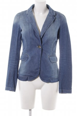 WE Fashion Jeansblazer blau Jeans-Optik