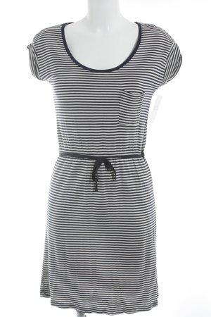 WE Fashion Jerseykleid dunkelblau-creme Casual-Look