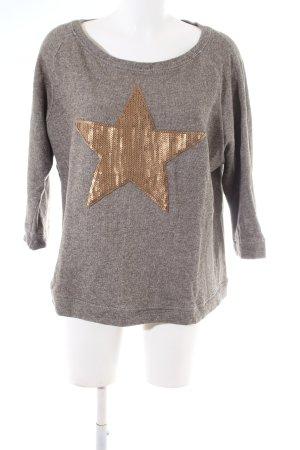 WE Fashion Sweatshirt braun-bronzefarben meliert Casual-Look