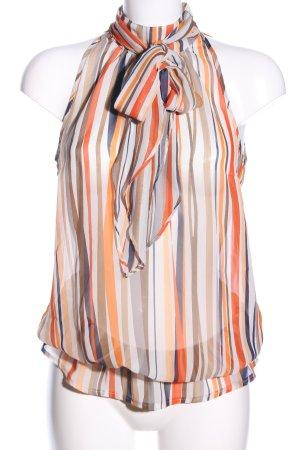 WE Fashion Transparenz-Bluse Streifenmuster Casual-Look