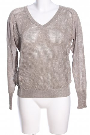WE Fashion V-Ausschnitt-Pullover hellgrau Casual-Look