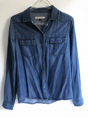 WE Fashion Chemise en jean bleuet viscose