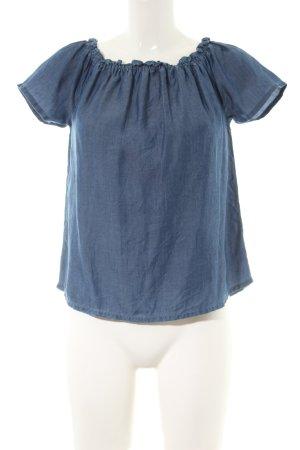 WE Kurzarm-Bluse blau Casual-Look