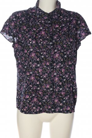 WE Kurzarm-Bluse abstraktes Muster Casual-Look