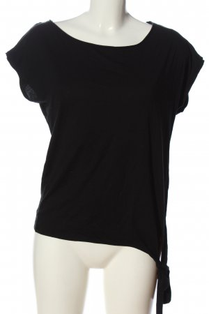 WE Kurzarm-Bluse schwarz Casual-Look
