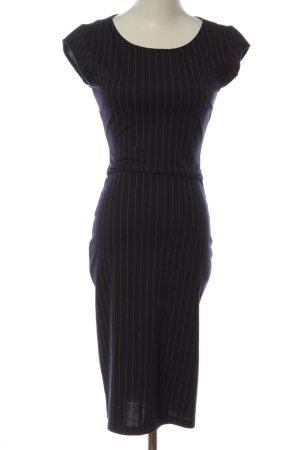 WE Kurzarmkleid schwarz-weiß Allover-Druck Business-Look