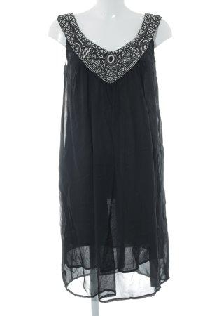 WE Kurzarmkleid schwarz extravaganter Stil