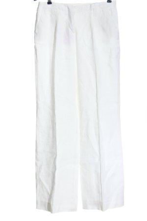WE Lniane spodnie biały W stylu casual