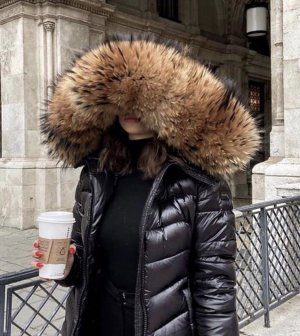 WE LOVE FURS Daunen Jacke Majestic Black