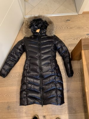 We Love Furs Down Coat black-beige