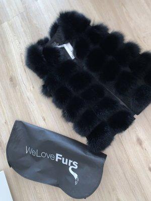 We Love Furs Fur vest black