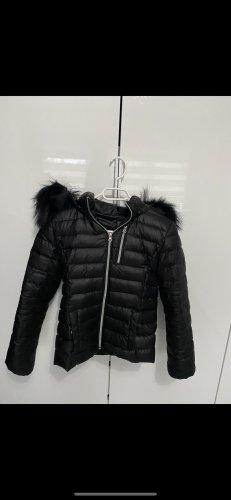 We Love Furs Down Jacket black