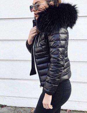 We Love Furs Down Jacket black-light grey