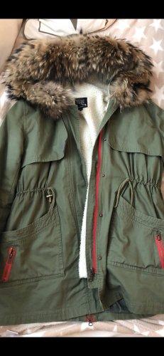 We Love Furs Giacca di pelliccia cachi-rosso