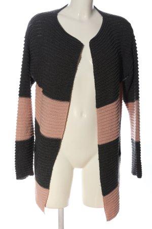 We love XOX Kardigan czarny-różowy W stylu casual