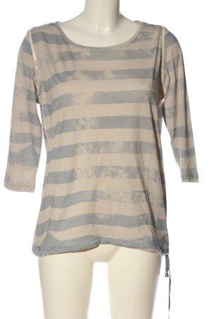 We love XOX Stripe Shirt cream-light grey striped pattern casual look
