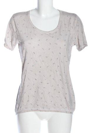We love XOX T-Shirt light grey allover print casual look