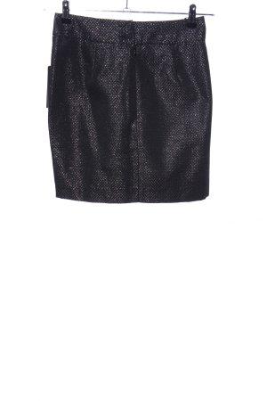 WE Minirock schwarz-silberfarben grafisches Muster Elegant