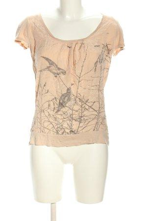 WE Oversized Shirt nude-hellgrau Motivdruck Casual-Look