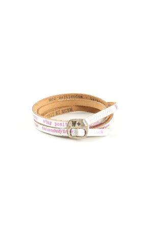 we positive Armband weiß-pink Schriftzug gedruckt Casual-Look