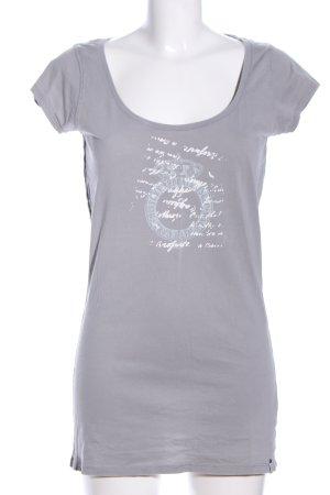 WE Print-Shirt hellgrau-weiß Motivdruck Casual-Look