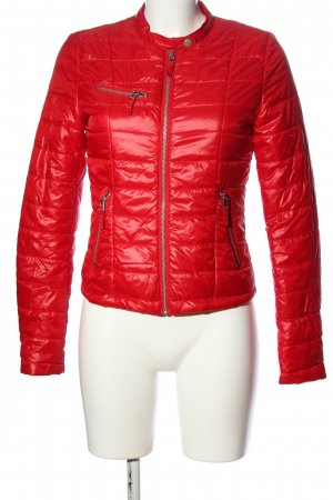 WE Steppjacke rot Steppmuster Casual-Look