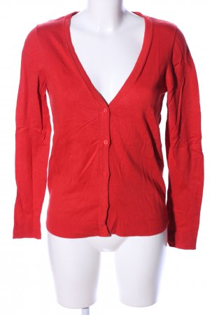 WE Strick Cardigan rot Business-Look