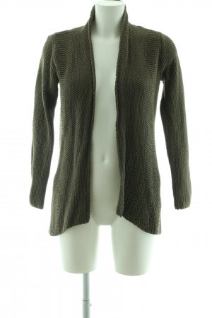 WE Strickjacke khaki Zopfmuster Casual-Look
