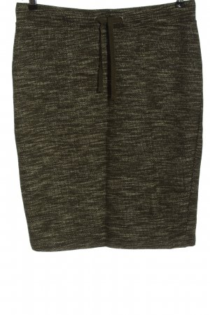 WE Knitted Skirt khaki flecked casual look