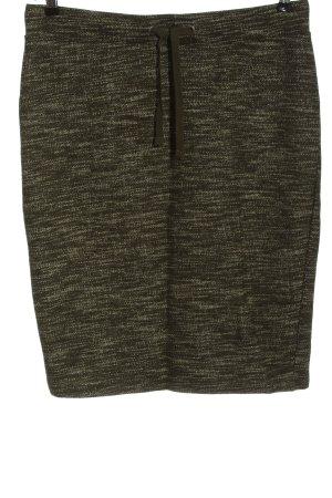 WE Jupe tricotée kaki moucheté style décontracté