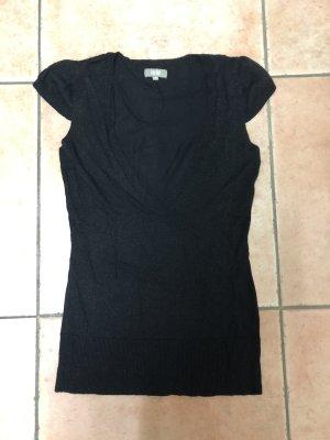 WE Fashion V-hals shirt zwart