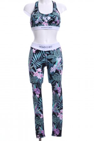 Woven Twin Set floral pattern athletic style