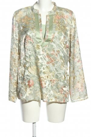 Woven Twin Set green-pink allover print business style