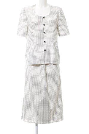 Woven Twin Set white-black check pattern business style