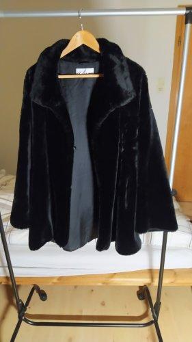 Dibari Giacca in eco pelliccia nero Cotone