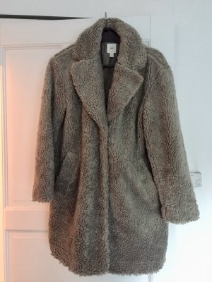 Hennes Collection by H&M Giacca in eco pelliccia grigio Poliestere