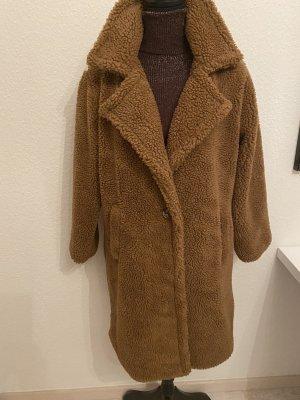 Manteau de fourrure cognac polyester