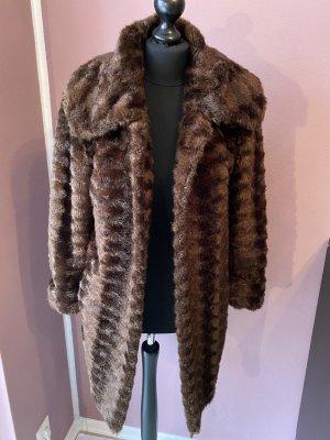 Dennis Basso Fake Fur Coat brown