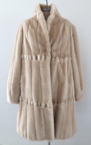 Modena Manteau en fausse fourrure blanc cassé