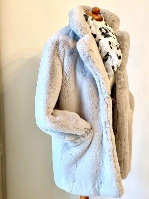 K.Zell Manteau en fausse fourrure gris clair