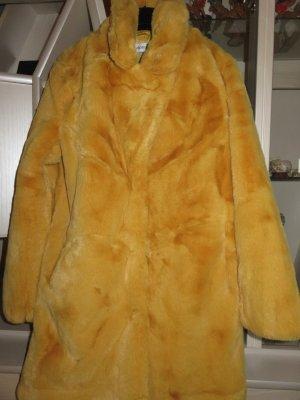Vanilla Manteau en fausse fourrure orange doré-orange clair polyester